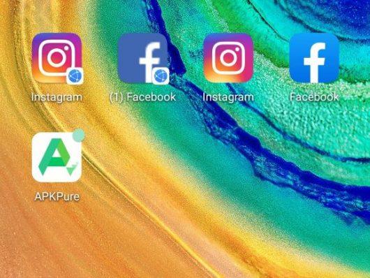 Nameščanje Fecebooka in Instagrama na Huawei mobilnike