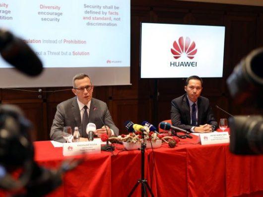 Huawei:zaskrbljenost glede podpisane skupne izjave