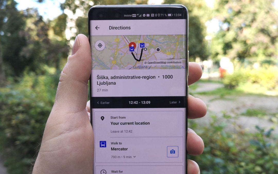 Aplikacija za načrtovanje poti  Moovit na voljo v Huawei AppGallery
