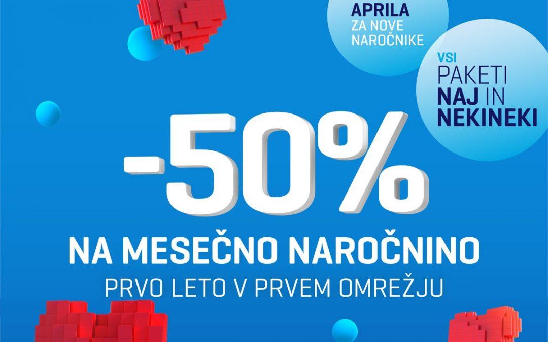 Mobilni paketi Telekom Slovenije cenejši za 50-odstotkov