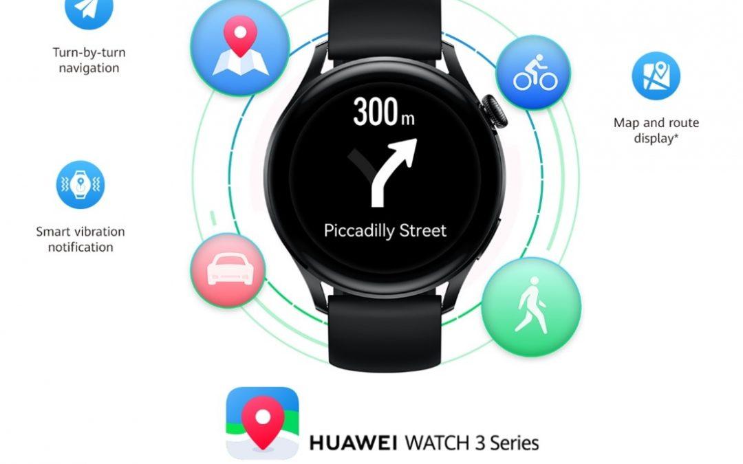 Zemljevidi Petal tudi za pametne ure Huawei Watch 3